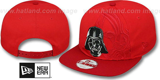 Star Darth Vader PANEL POP SNAPBACK Red Hat by New Era 5abd1d1b10c4