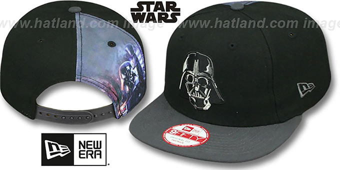 Darth Vader 'QUARTER-SUB SNAPBACK' Black-Grey Hat by New Era : pictured without stickers that these products are shipped with