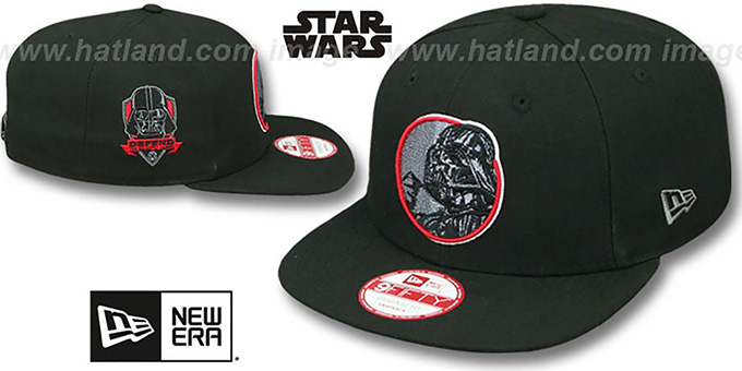 Darth Vader 'RETROFLECT SNAPBACK' Black Hat by New Era : pictured without stickers that these products are shipped with