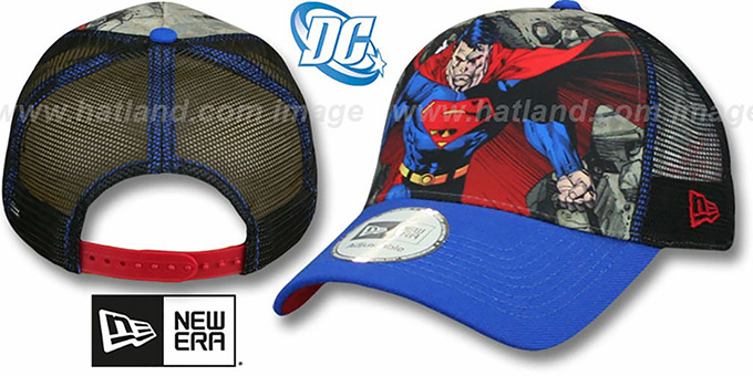 DC 'SUPERMAN TRUCKER' Adjustable Hat by New Era : pictured without stickers that these products are shipped with