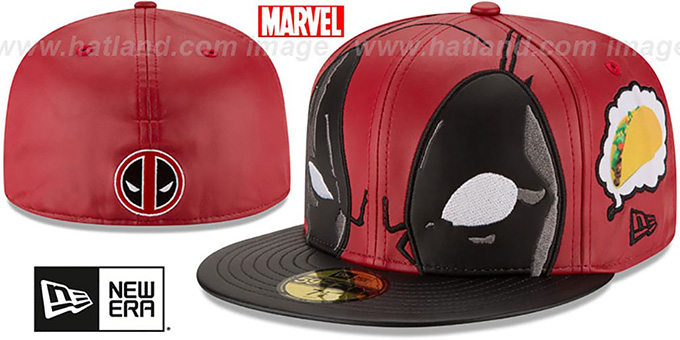 Marvel Deadpool CHARACTER FACE Fitted Hat by New Era dc7be952c69