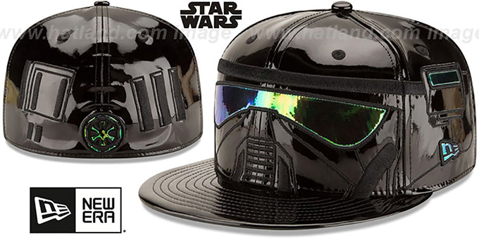 Death Trooper 'CHARACTER FACE' Fitted Hat by New Era : pictured without stickers that these products are shipped with