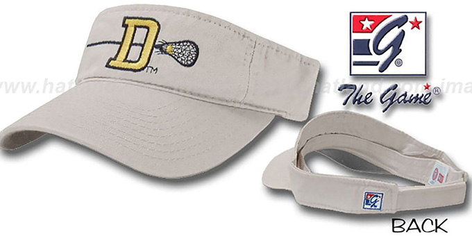 Delaware  'LACROSSE' Visor by the Game - stone