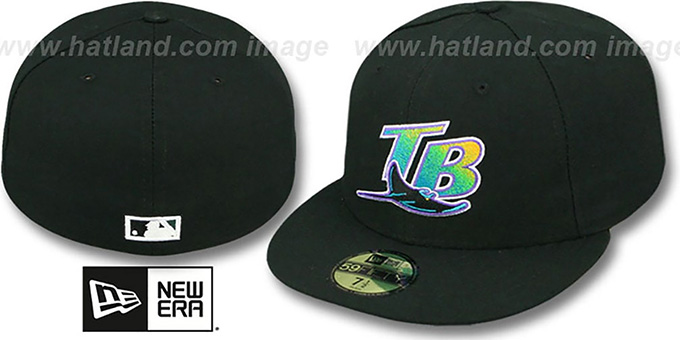 Devil Rays '2000 COOP GAME' Fitted Hat by New Era : pictured without stickers that these products are shipped with
