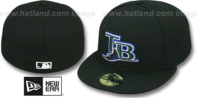 Devil Rays '2004 COOP GAME' Fitted Hat by New Era : pictured without stickers that these products are shipped with