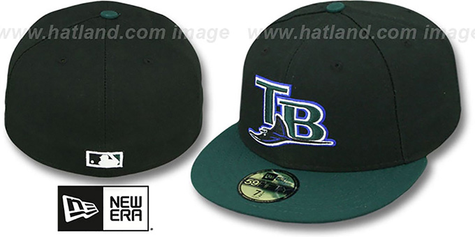 Devil Rays '2007 COOP ALTERNATE' Fitted Hat by New Era : pictured without stickers that these products are shipped with