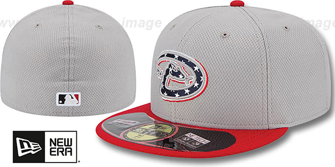 Diamondbacks 2013 'JULY 4TH STARS N STRIPES' Hat by New Era : pictured without stickers that these products are shipped with