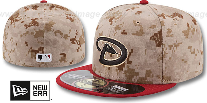 Diamondbacks '2014 STARS N STRIPES' ALT Fitted Hat by New Era : pictured without stickers that these products are shipped with