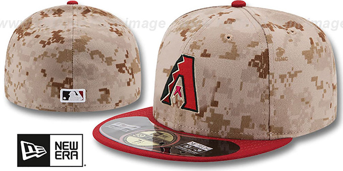 Diamondbacks '2014 STARS N STRIPES' Fitted Hat by New Era : pictured without stickers that these products are shipped with