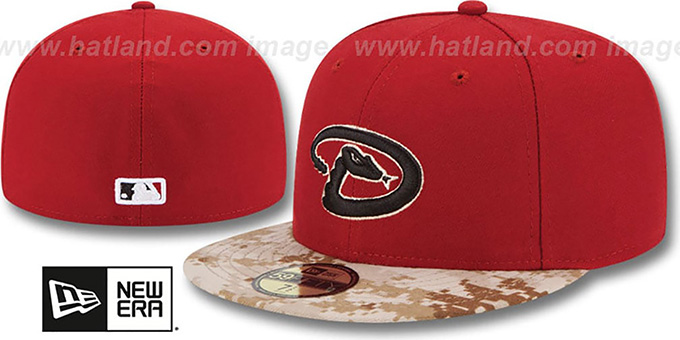 Diamondbacks '2015 STARS N STRIPES' Fitted Hat by New Era : pictured without stickers that these products are shipped with