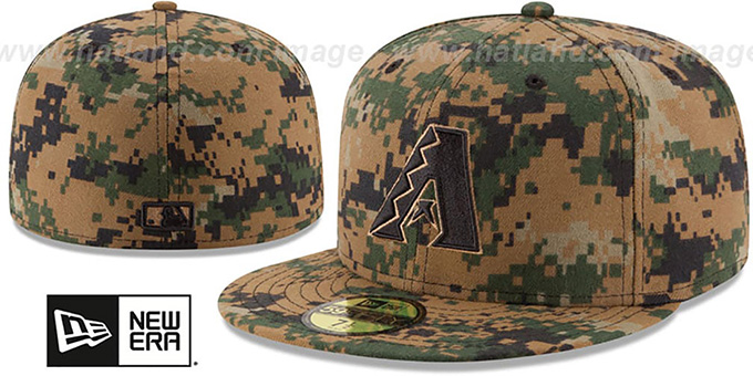 Diamondbacks 2016 MEMORIAL DAY 'STARS N STRIPES' Hat by New Era : pictured without stickers that these products are shipped with