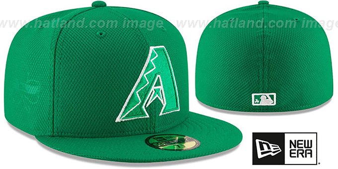 Diamondbacks '2016 ST PATRICKS DAY' Hat by New Era : pictured without stickers that these products are shipped with