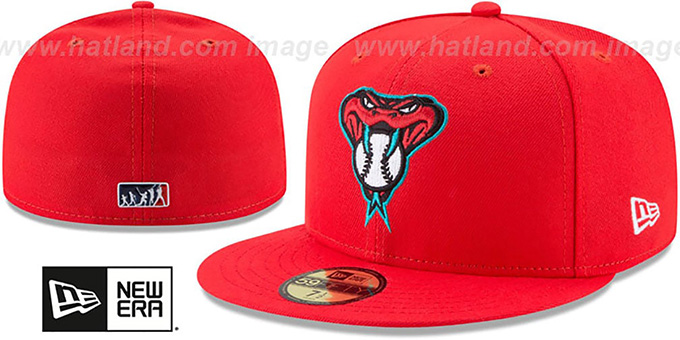 Diamondbacks  2017 MLB LITTLE-LEAGUE  Red Fitted Hat by ... 1b39fa0dbf6