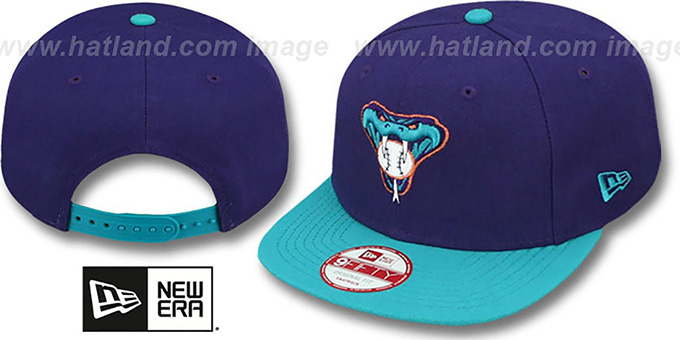 Diamondbacks 'BITD SNAPBACK' Purple-Teal Hat by New Era : pictured without stickers that these products are shipped with