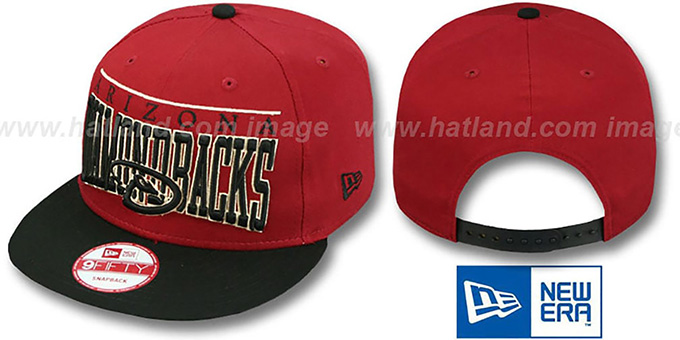 Diamondbacks 'LE-ARCH SNAPBACK' Brick-Black Hat by New Era : pictured without stickers that these products are shipped with