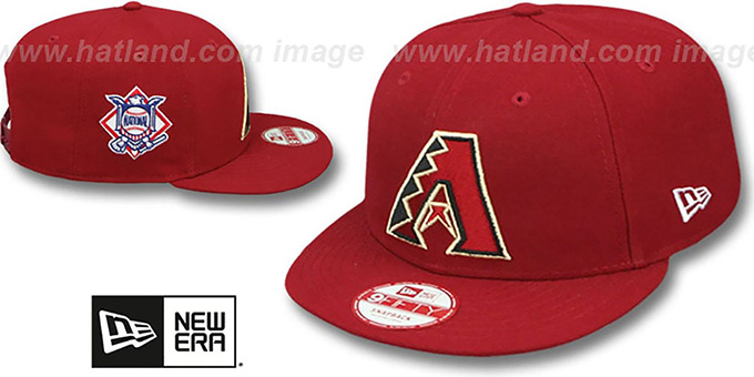 Diamondbacks 'LEAGUE REPLICA GAME SNAPBACK' Hat by New Era : pictured without stickers that these products are shipped with