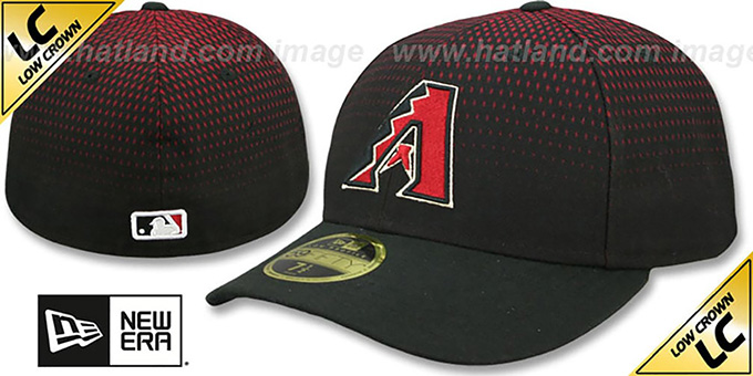 Diamondbacks 'LOW-CROWN ALTERNATE-3' Fitted Hat by New Era : pictured without stickers that these products are shipped with
