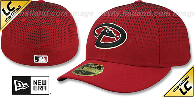 Diamondbacks 'LOW-CROWN ALTERNATE-4' Fitted Hat by New Era : pictured without stickers that these products are shipped with