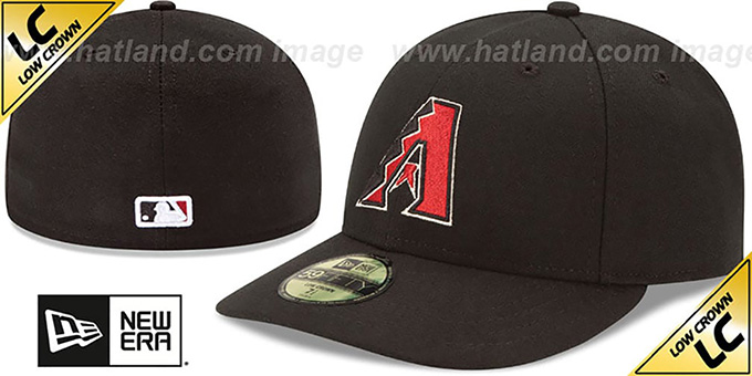 Diamondbacks 'LOW-CROWN' GAME Fitted Hat by New Era : pictured without stickers that these products are shipped with