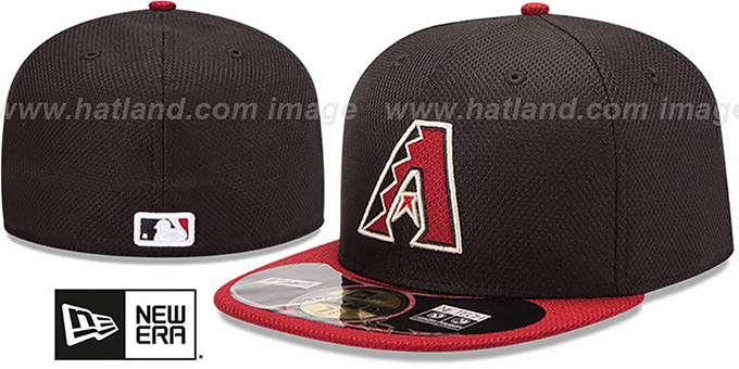 168f54e53e1df Diamondbacks  MLB DIAMOND ERA  59FIFTY Black-Brick BP Hat by New Era