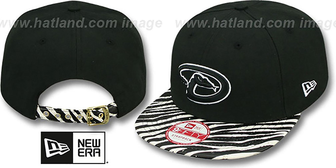Diamondbacks 'OSTRICH-ZEBRA STRAPBACK' Hat by New Era : pictured without stickers that these products are shipped with