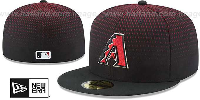 Diamondbacks 'PERFORMANCE ALTERNATE-3' Hat by New Era : pictured without stickers that these products are shipped with