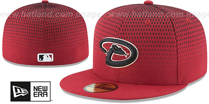 Diamondbacks 'PERFORMANCE ALTERNATE-4' Hat by New Era : pictured without stickers that these products are shipped with