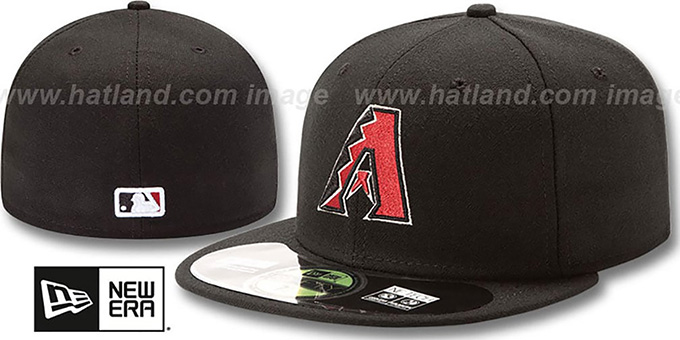 Diamondbacks 'PERFORMANCE GAME' Hat by New Era : pictured without stickers that these products are shipped with