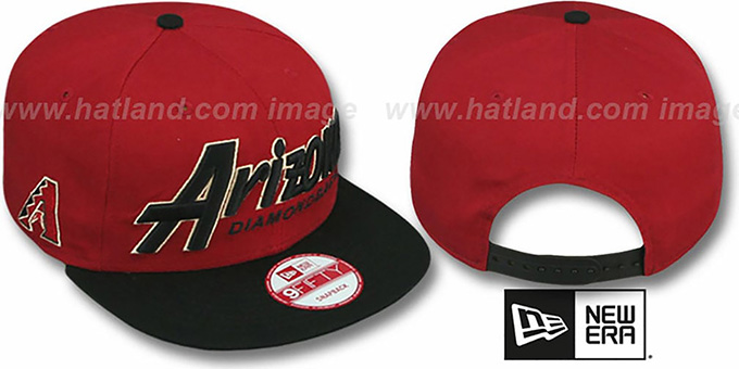 Diamondbacks 'SNAP-IT-BACK SNAPBACK' Brick-Black Hat by New Era : pictured without stickers that these products are shipped with