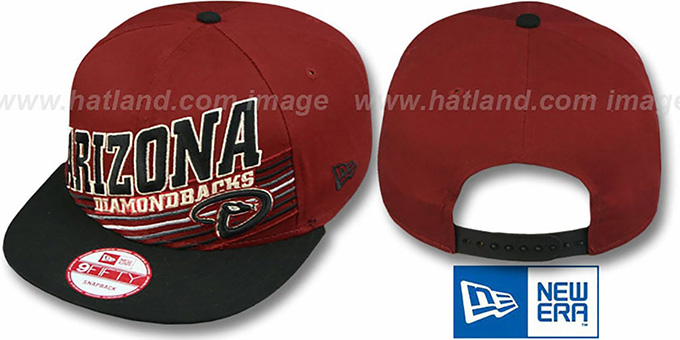 Diamondbacks 'STILL ANGLIN SNAPBACK' Brick-Black Hat by New Era : pictured without stickers that these products are shipped with