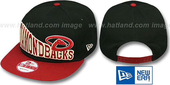 Diamondbacks 'STOKED SNAPBACK' Black-Brick Hat by New Era : pictured without stickers that these products are shipped with