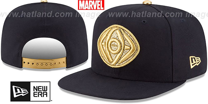 Doctor Strange 'EMBLEM SNAPBACK' Navy Hat by New Era : pictured without stickers that these products are shipped with