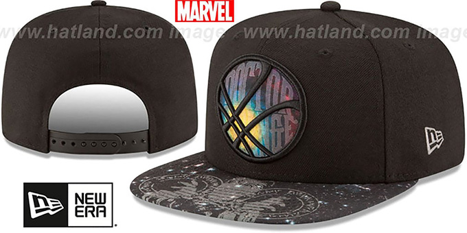 Doctor Strange 'PLANET SNAPBACK' Black Hat by New Era : pictured without stickers that these products are shipped with