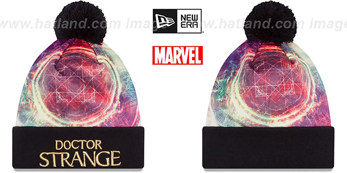 Doctor Strange 'POWER' All-Over Knit Beanie Hat by New Era : pictured without stickers that these products are shipped with