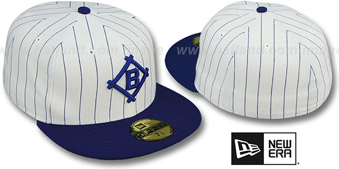 Dodgers 1912 'COOP' ROAD Fitted Hat by New Era : pictured without stickers that these products are shipped with