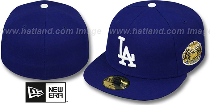 Dodgers 1963 'WORLD SERIES CHAMPS' GAME Hat by New Era : pictured without stickers that these products are shipped with