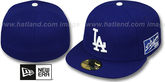 Dodgers 1965 'WORLD SERIES CHAMPS' GAME Hat by New Era : pictured without stickers that these products are shipped with