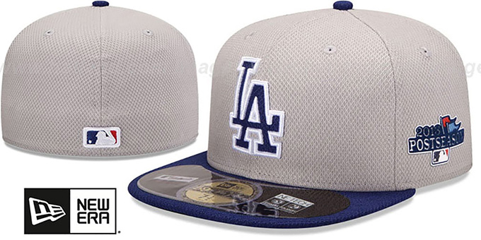 Dodgers '2013 POSTSEASON' DIAMOND-TECH Hat by New Era : pictured without stickers that these products are shipped with