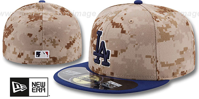 Dodgers '2014 STARS N STRIPES' Fitted Hat by New Era : pictured without stickers that these products are shipped with
