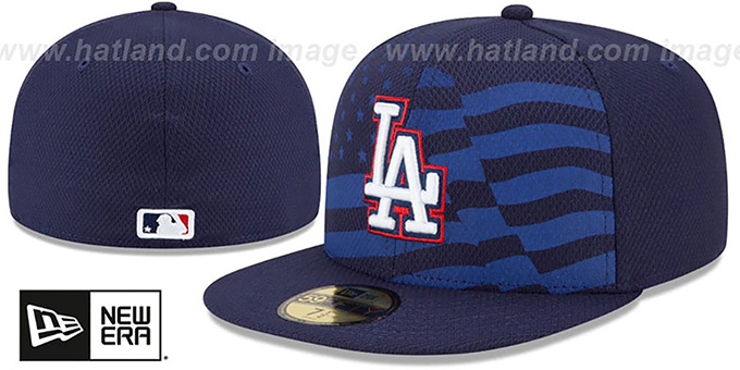 Dodgers '2015 JULY 4TH STARS N STRIPES' Hat by New Era : pictured without stickers that these products are shipped with