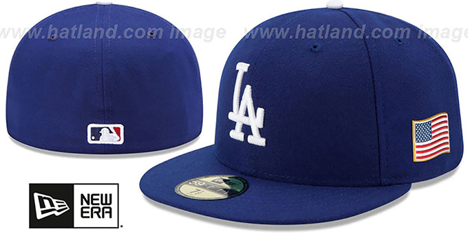 Dodgers '2015 STARS-N-STRIPES 911 GAME' Hat by New Era : pictured without stickers that these products are shipped with