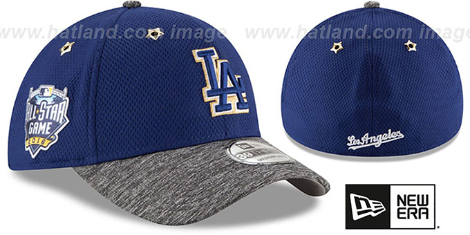 Dodgers '2016 MLB ALL-STAR GAME FLEX' Hat by New Era : pictured without stickers that these products are shipped with
