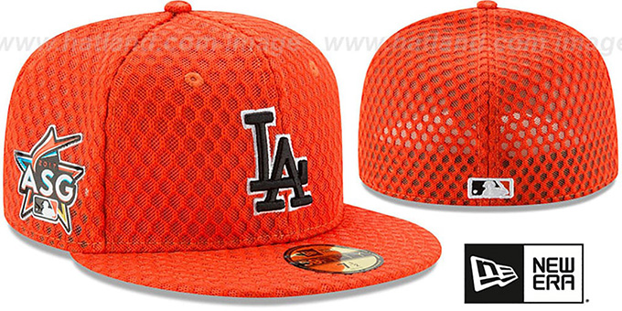 12aeec899bb Los Angeles Dodgers 2017 MLB HOME RUN DERBY Orange Fitted Hat