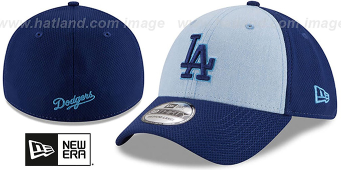 sale retailer d3e1d 325a3 Dodgers  2018 FATHERS DAY FLEX  Sky-Royal Hat by New Era