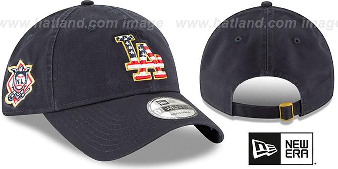 4424e26e Los Angeles Dodgers 2018 JULY 4TH STARS N STRIPES STRAPBACK Navy Hat by New  Era