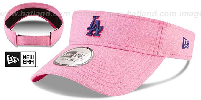 Dodgers '2018 MOTHERS DAY VISOR' Heather Pink by New Era