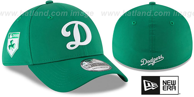 Dodgers '2018 ST PATRICKS DAY FLEX' Hat by New Era : pictured without stickers that these products are shipped with
