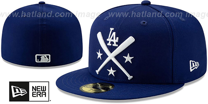 84609587 Los Angeles Dodgers 2019 MLB ALL-STAR ALTERNATE WORKOUT Royal Fitted Hat by  New Era