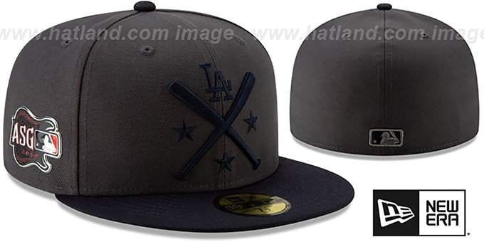 huge discount 81e68 bf7ab Dodgers  2019 MLB ALL-STAR WORKOUT  Grey-Navy Fitted Hat by New