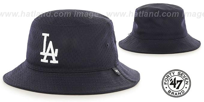 Dodgers  BACKBOARD JERSEY BUCKET  Navy Hat by Twins 47 Brand d5cf7e3e6380